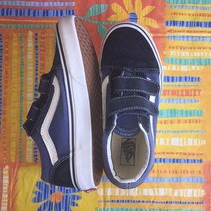 ⛺️ Vans Velcro Old School style Blue Sneakers 🏕